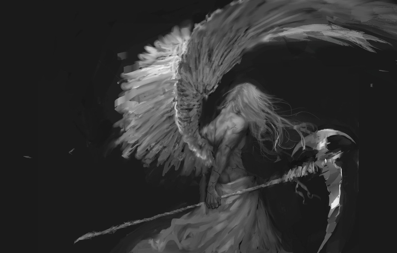 Wallpaper Gothic Braid Male The Angel Of Death By Bloody