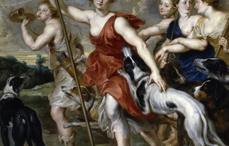 Photo wallpaper picture, Peter Paul Rubens, mythology, Pieter Paul Rubens, Diana The Huntress