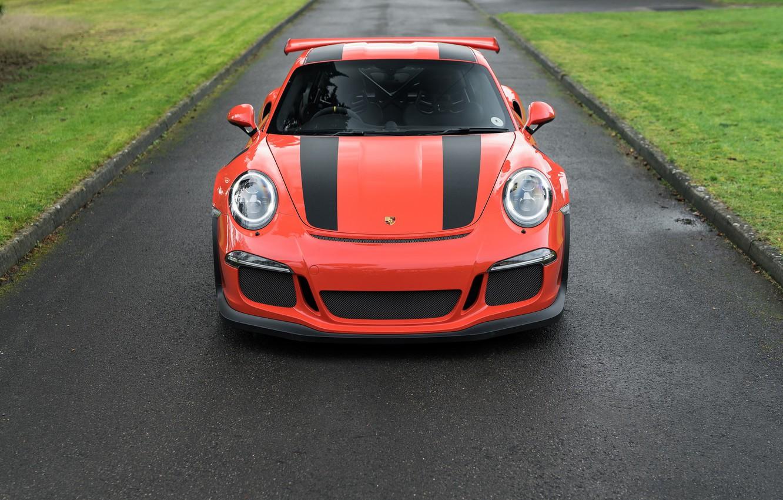Photo wallpaper road, sports car, Porsche 911, Porsche 911 GT3 RS