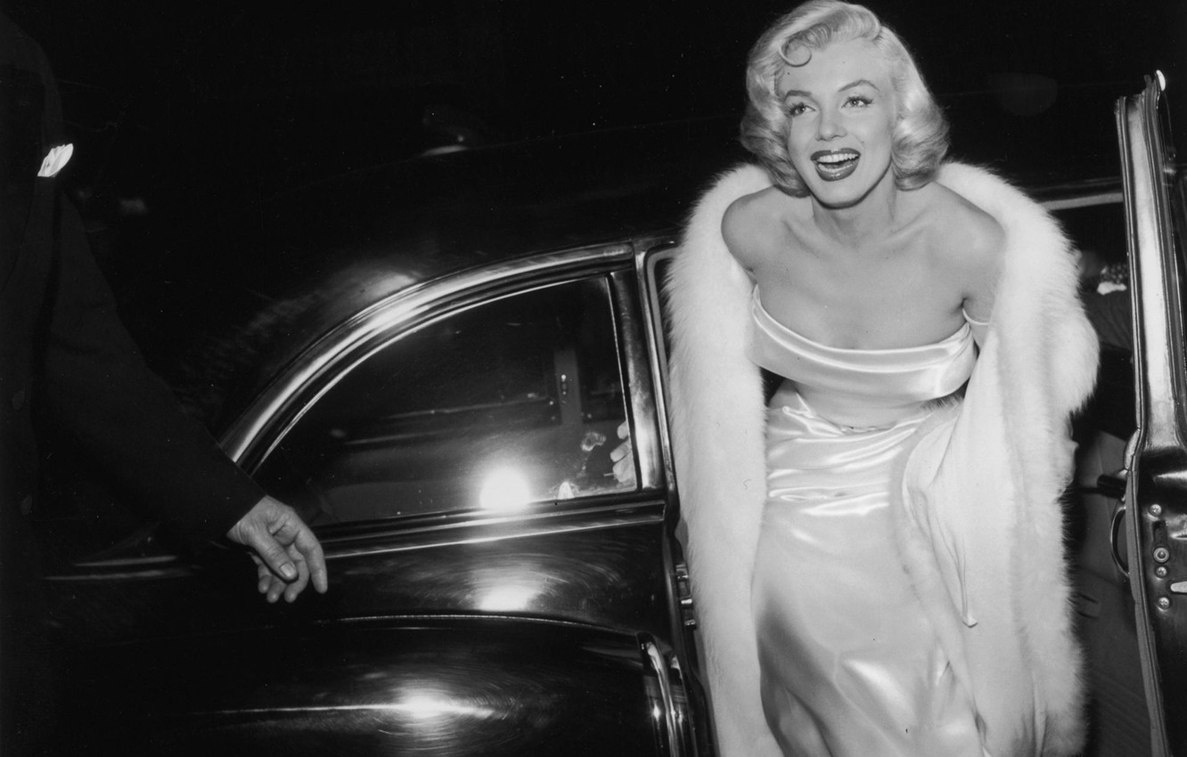 Wallpaper Smile Model Actress Blonde Car Marilyn Monroe