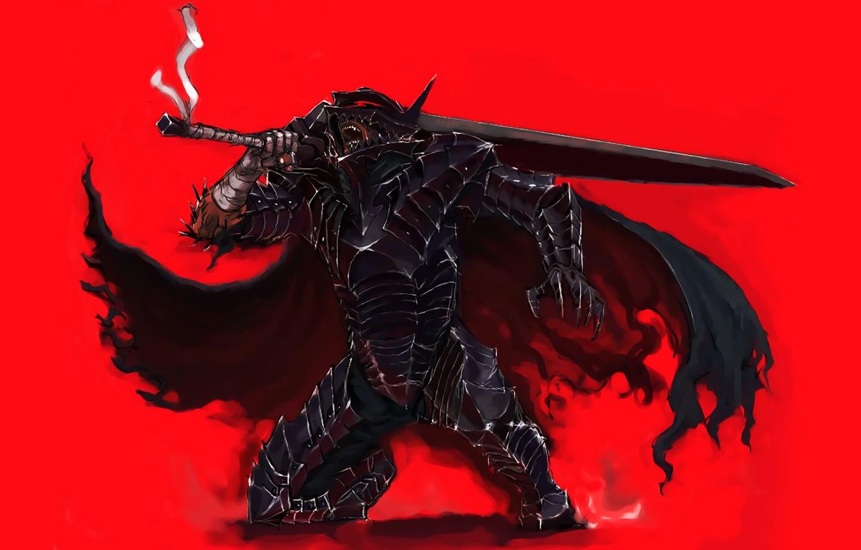 Photo wallpaper sword, game, armor, anime, man, ken, blade, Berserk, manga, powerful, strong, Guts, bakemono, berserk armor