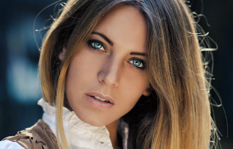 Photo wallpaper girl, long hair, photo, photographer, blue eyes, model, beauty, lips, face, brunette, portrait, mouth, close …