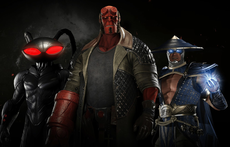 Photo wallpaper game, lightning, hero, Raiden, DC Comics, god, uniform, spark, super hero, Hellboy, thunder god, Injustice …