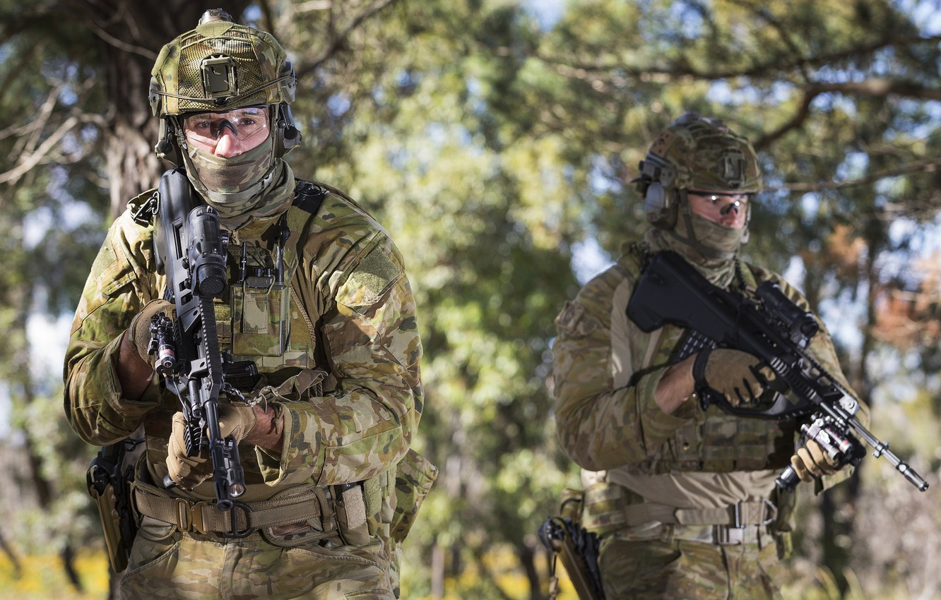 Photo wallpaper weapons, soldiers, Australian Army