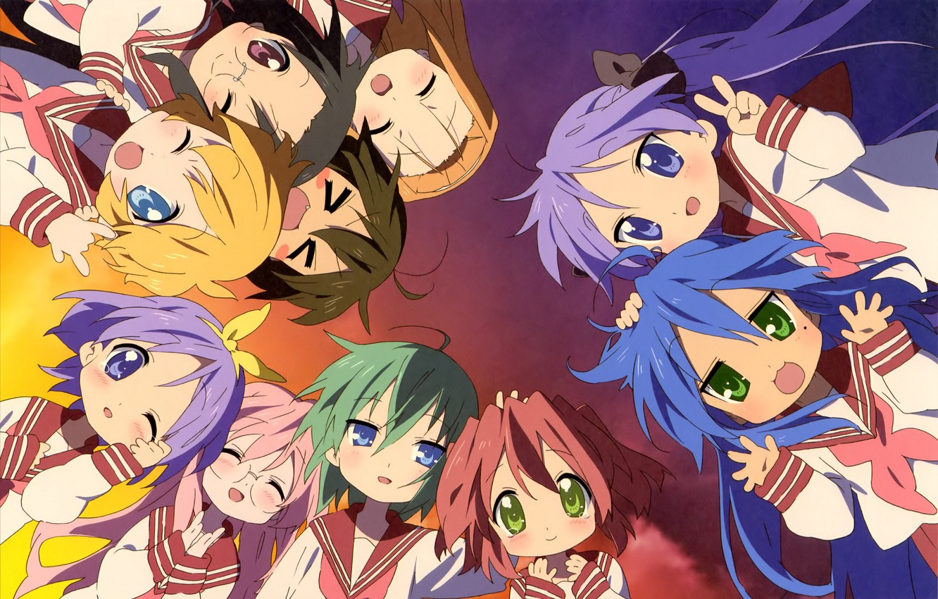 Wallpaper girl anime manga seifuku Lucky Star japonese images