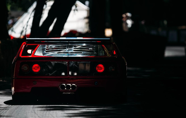 Photo wallpaper Auto, Machine, Ferrari, Ferrari, F40, Car, Supercar, Ferrari F40, F 40, F40, Back, Ferrari F …