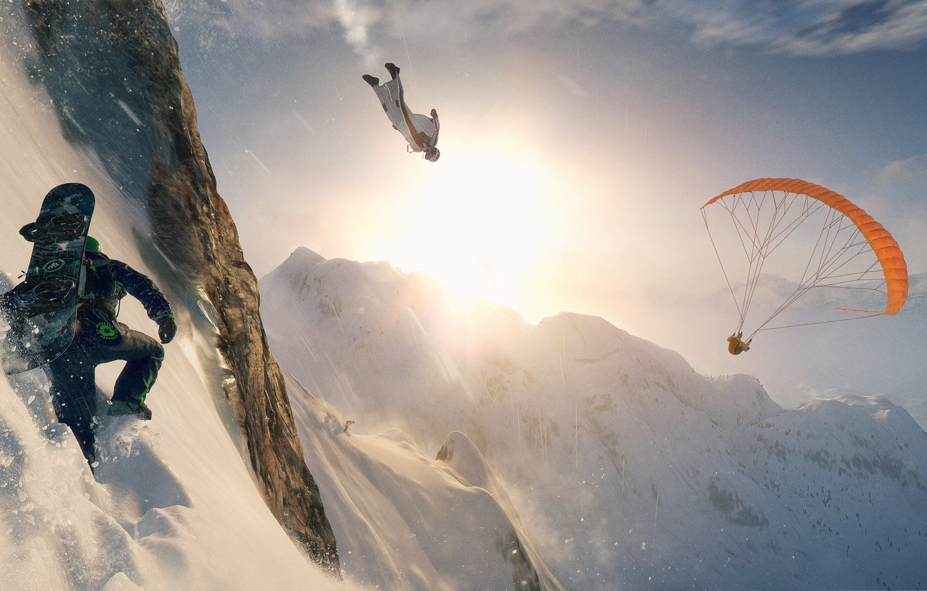 Photo wallpaper Windows, ice, game, snow, man, extreme, PlayStation 4, PS4, Xbox One, Steep, E3 2016