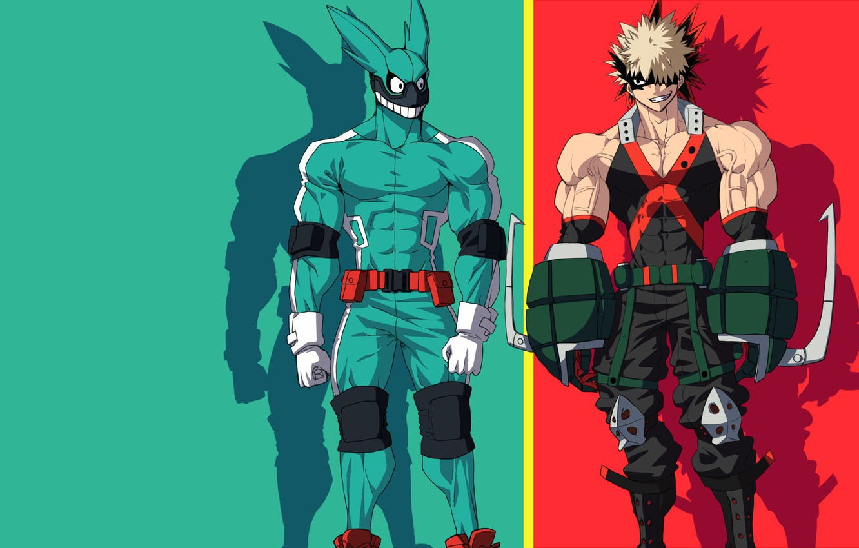 Wallpaper Green Red Rabbit Anime Hero Friends Manga