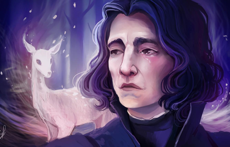 Wallpaper Art Harry Potter Severus Snape By Ludmila Cera