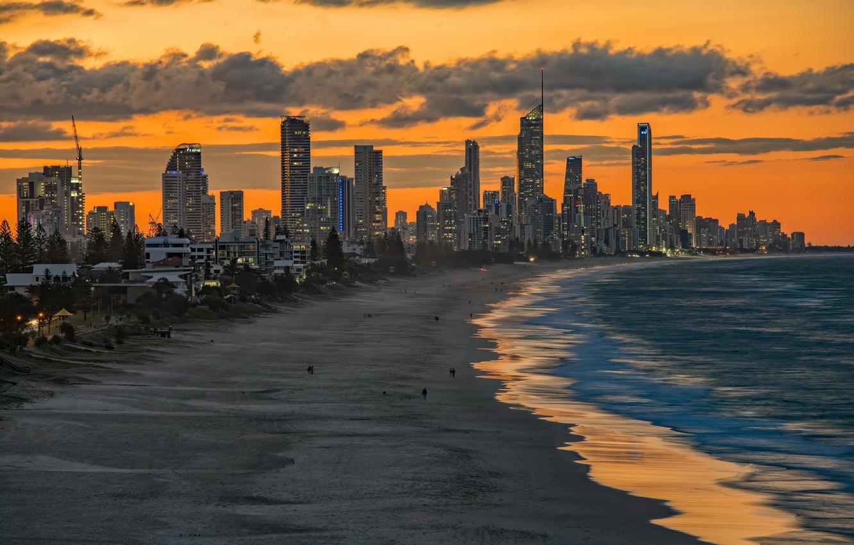 Photo wallpaper beach, the city, Miami Beach