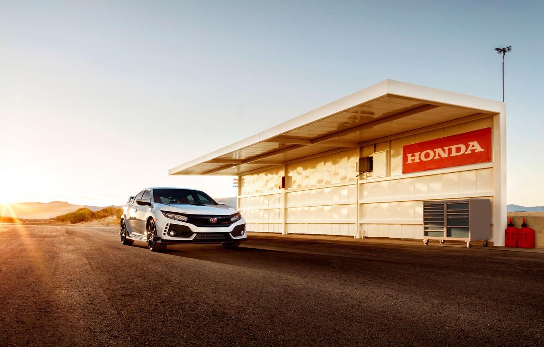 Photo wallpaper car, logo, Honda, Honda Civic Tyre R