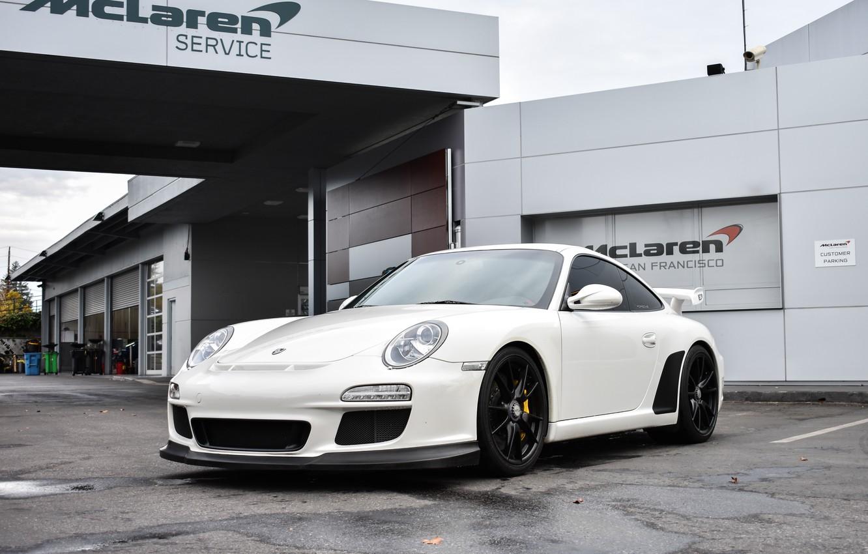 Photo wallpaper Porsche, GT3, White
