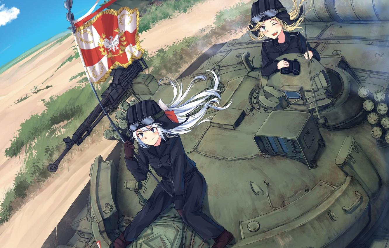 Wallpaper gun weapon war anime flag tank japanese - Anime war wallpaper ...
