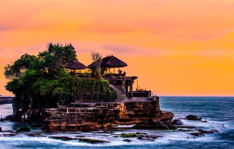 Wallpaper Sea The Sky Trees Stones Coast Horizon Bali