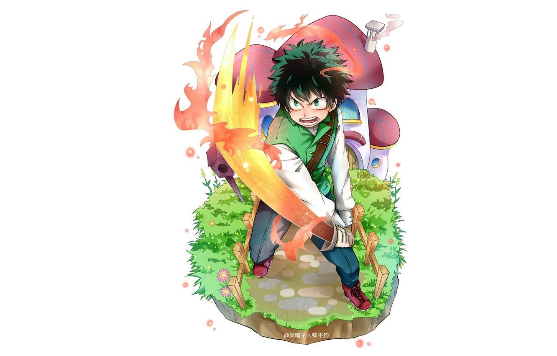 Photo wallpaper sword, guy, Boku no Hero Academy, Midori Isuku