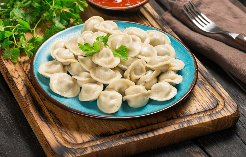 Photo wallpaper Plate, Food, Main Dishes, Dumplings