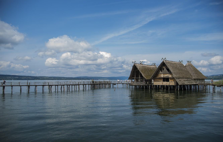 Photo wallpaper Lake, Summer, Landscape, Summer, Lake