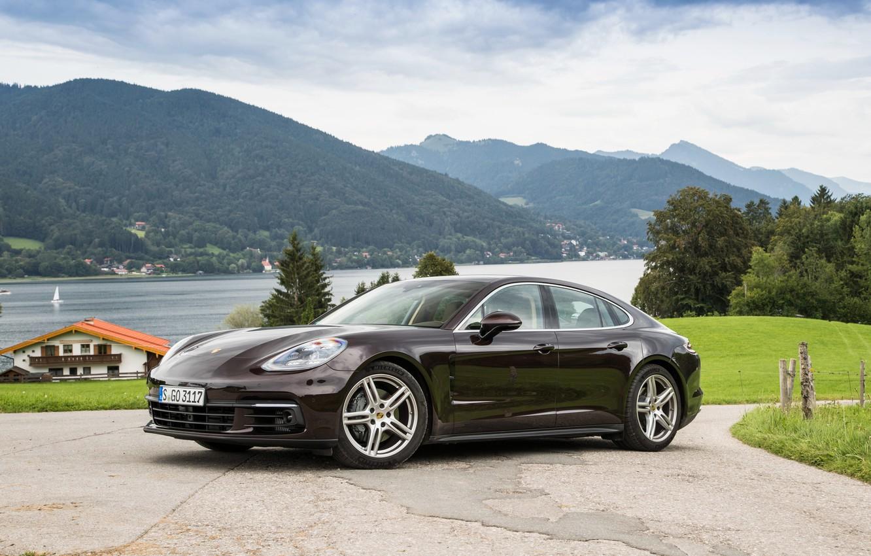 Photo wallpaper Porsche, Panamera, Car, Brown, Metallic, 2016-17, (971)