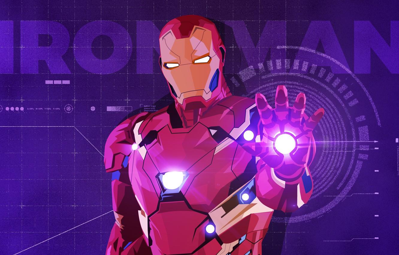 Photo wallpaper vector, art, Iron man, Iron Man