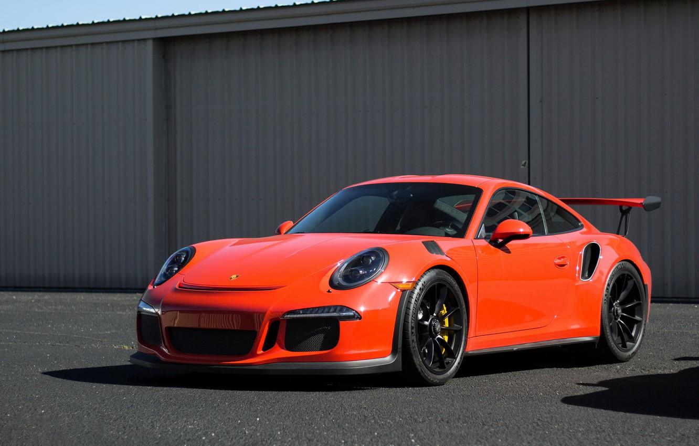 Photo wallpaper Porsche, Orange, GT3RS, 991
