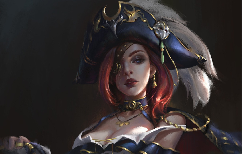Photo wallpaper look, art, League of Legends, Miss Fortune