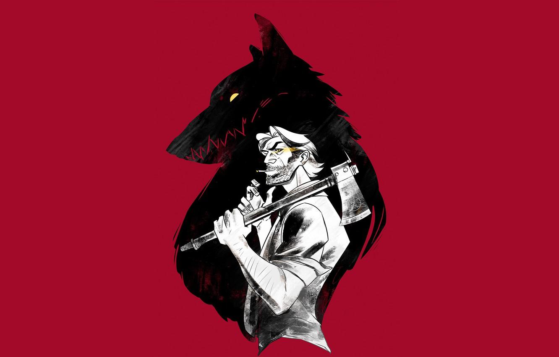 Photo wallpaper art, Werewolf, Telltale Games, The Wolf Among Us, Grey Wolf, Fables, Big Bad Wolf, Gaffer …