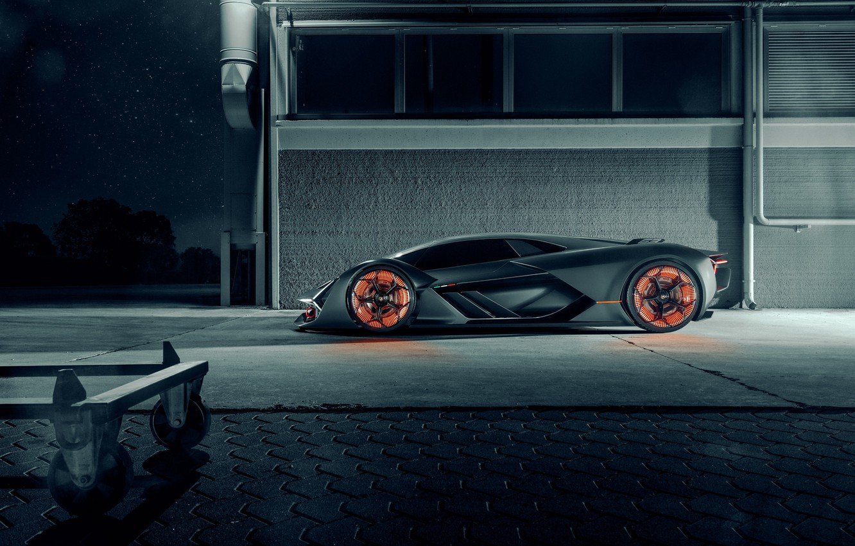Photo wallpaper Lamborghini, Light, Side, Hypercar, The Third Millennium