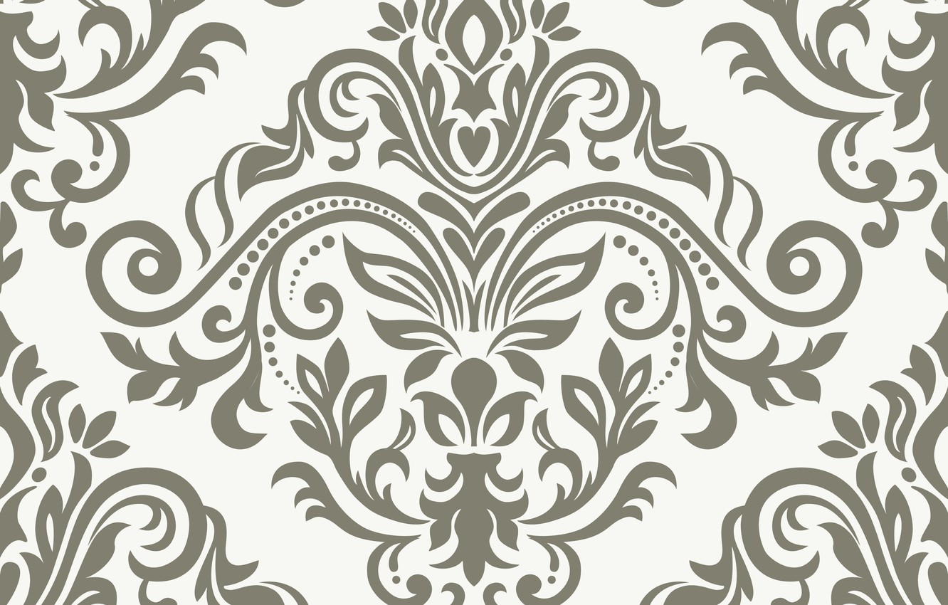 Photo wallpaper flowers, pattern, vector, texture, ornament, with, vintage, pattern, ornament, seamless, damask
