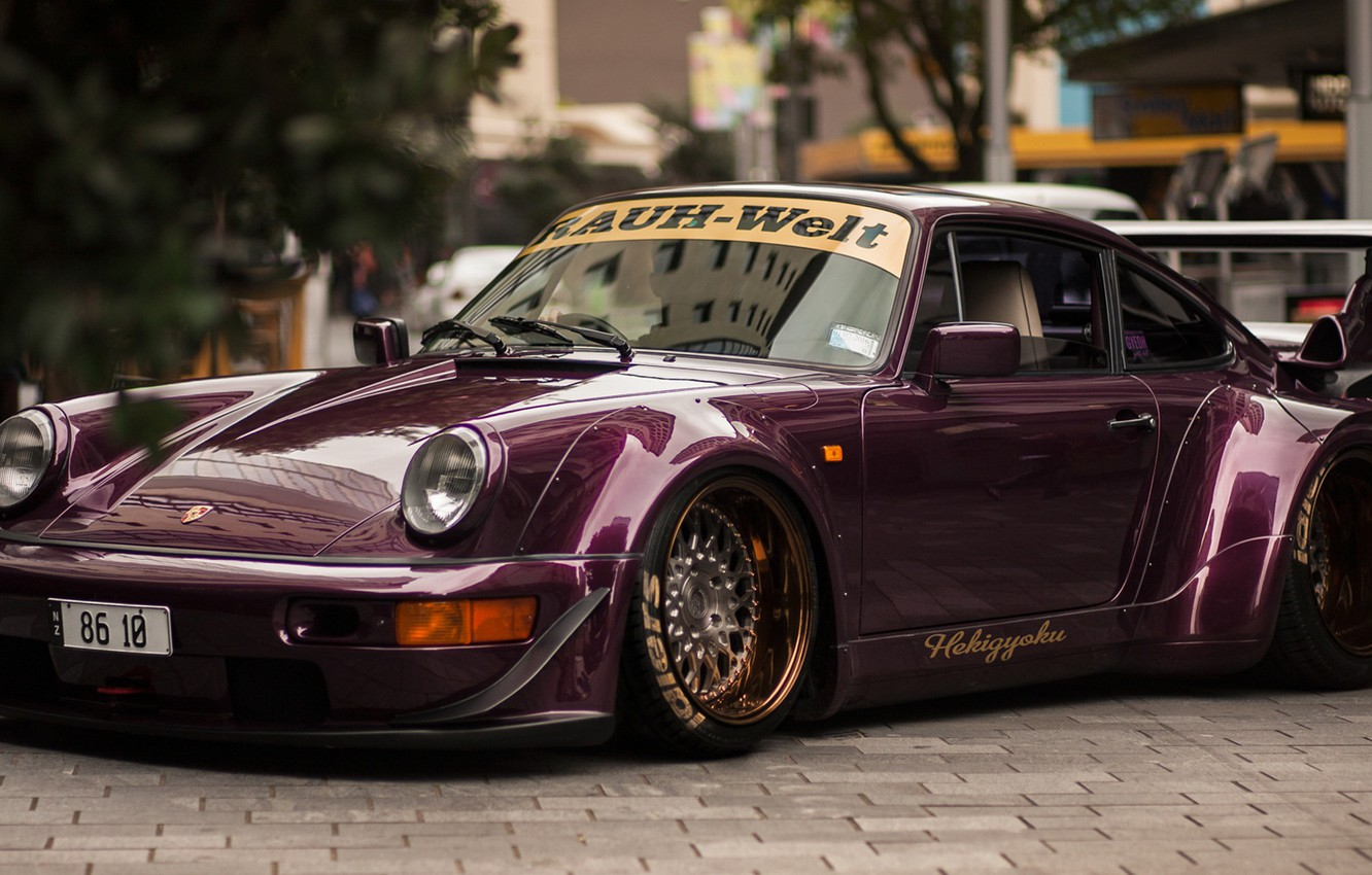 Photo wallpaper 911, wide body, porschce, Porsche 964