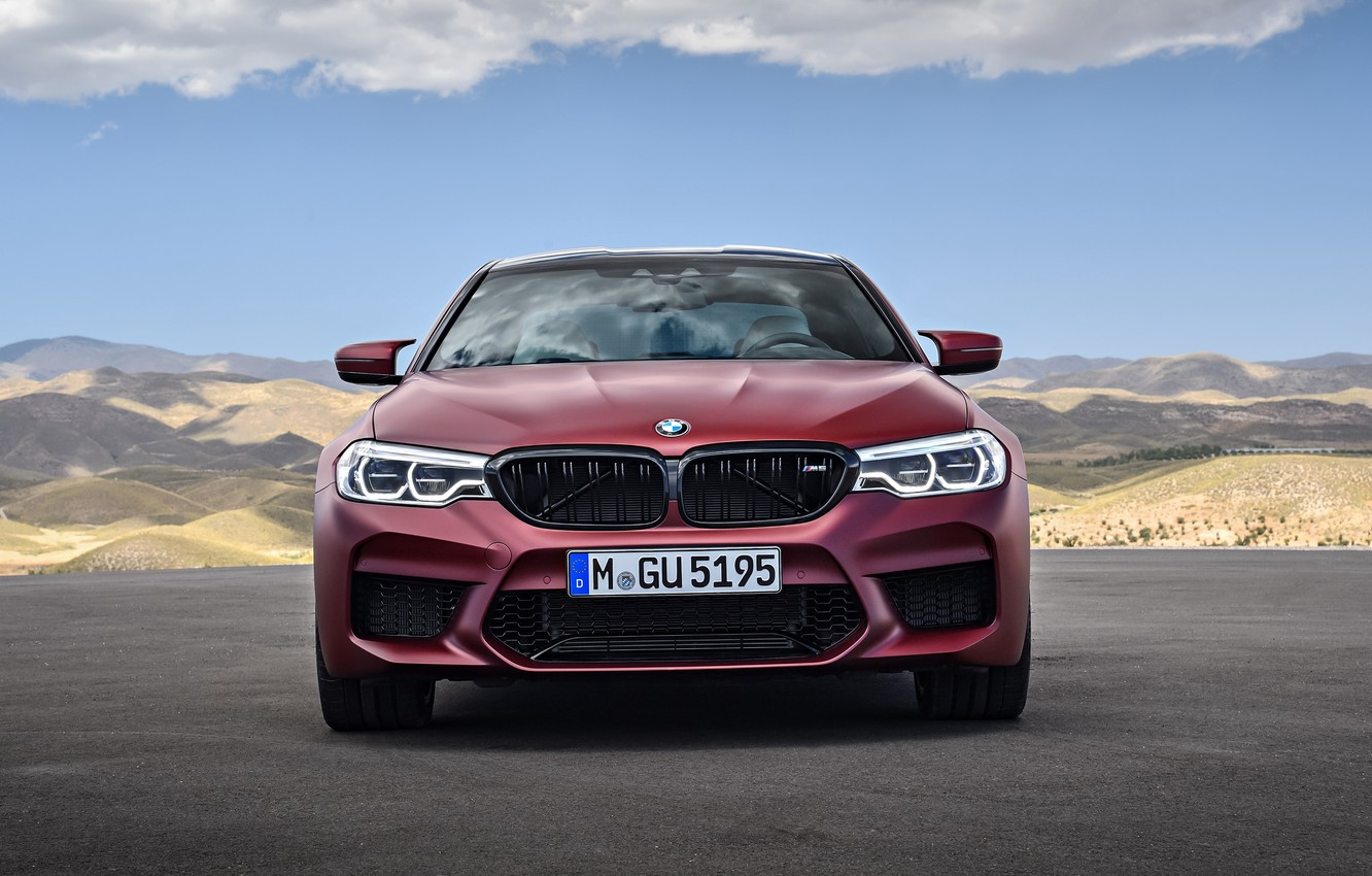 Photo wallpaper front view, 2018, BMW M5, First Edition