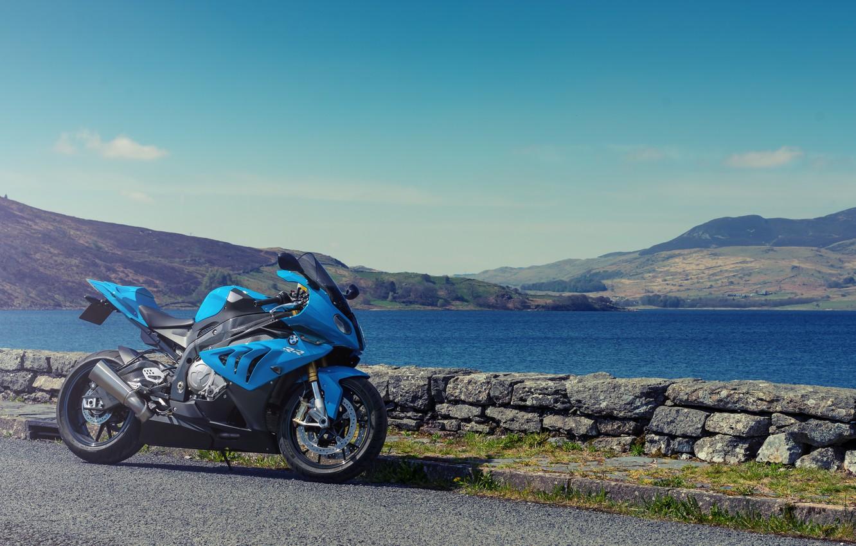 Photo wallpaper BMW, Supersport, BMW, Motorcycle, Blue, Supersport, S1000 RR