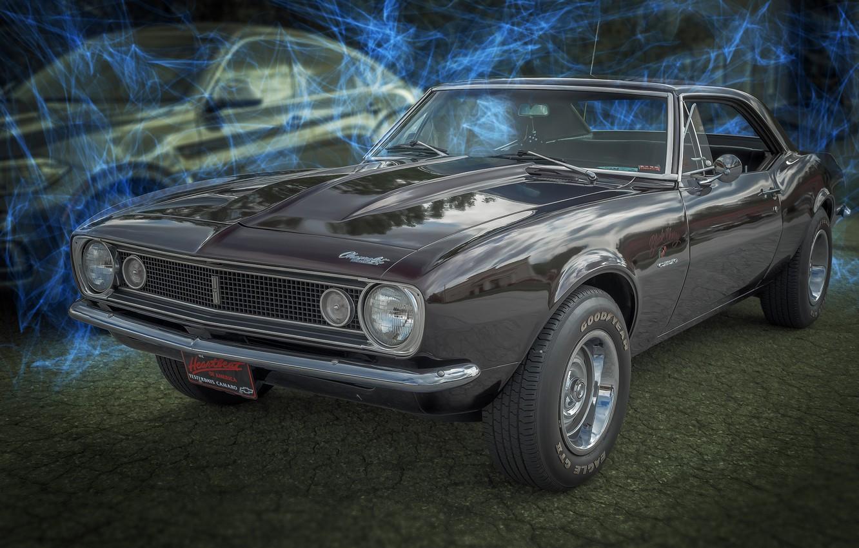 Photo wallpaper design, background, Chevrolet, Camaro