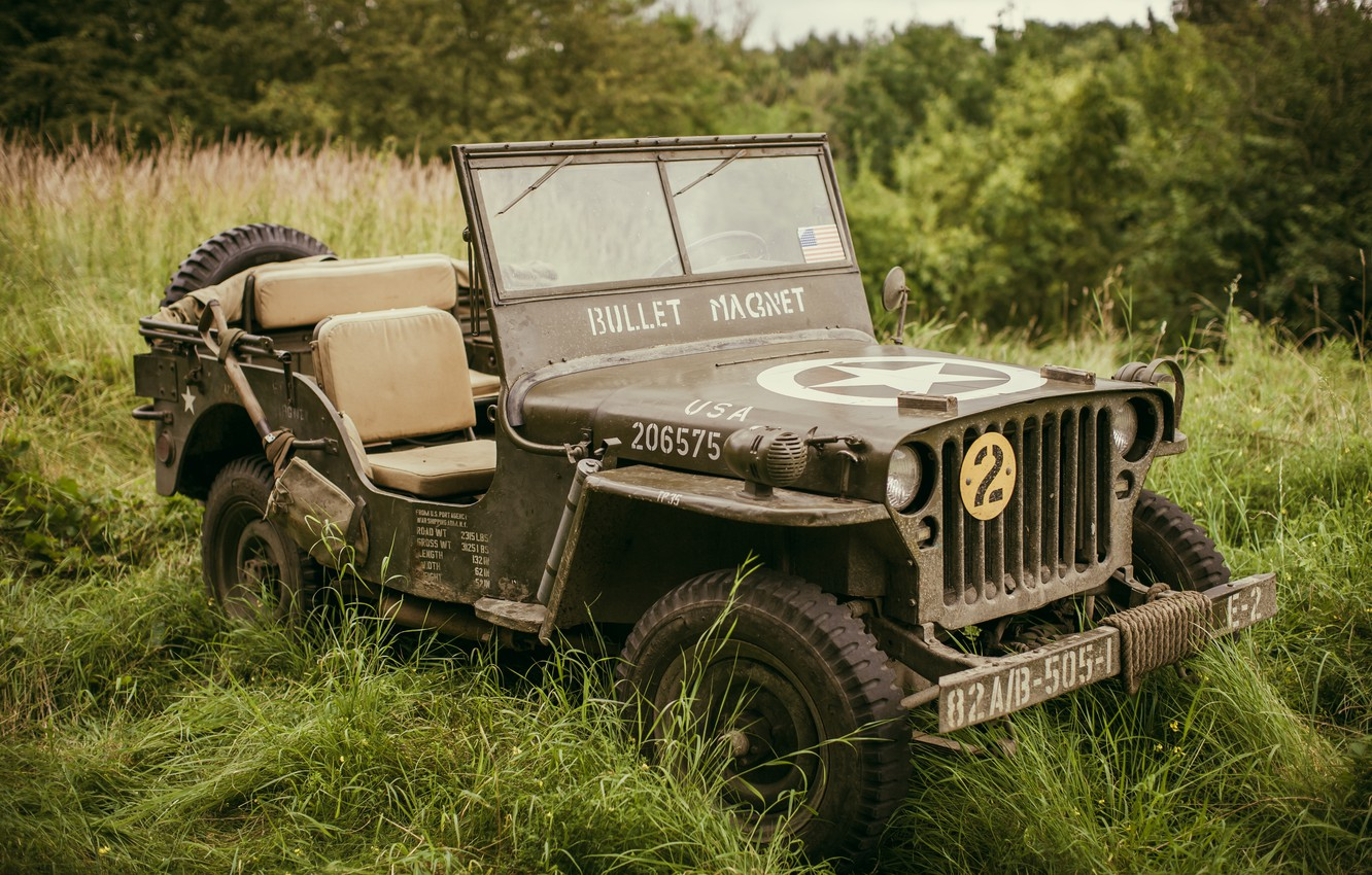 Photo wallpaper the front, army, Willys MB