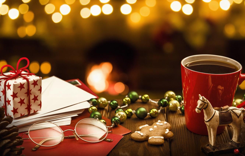 Photo wallpaper New Year, Christmas, christmas, balls, merry christmas, gift, decoration, xmas