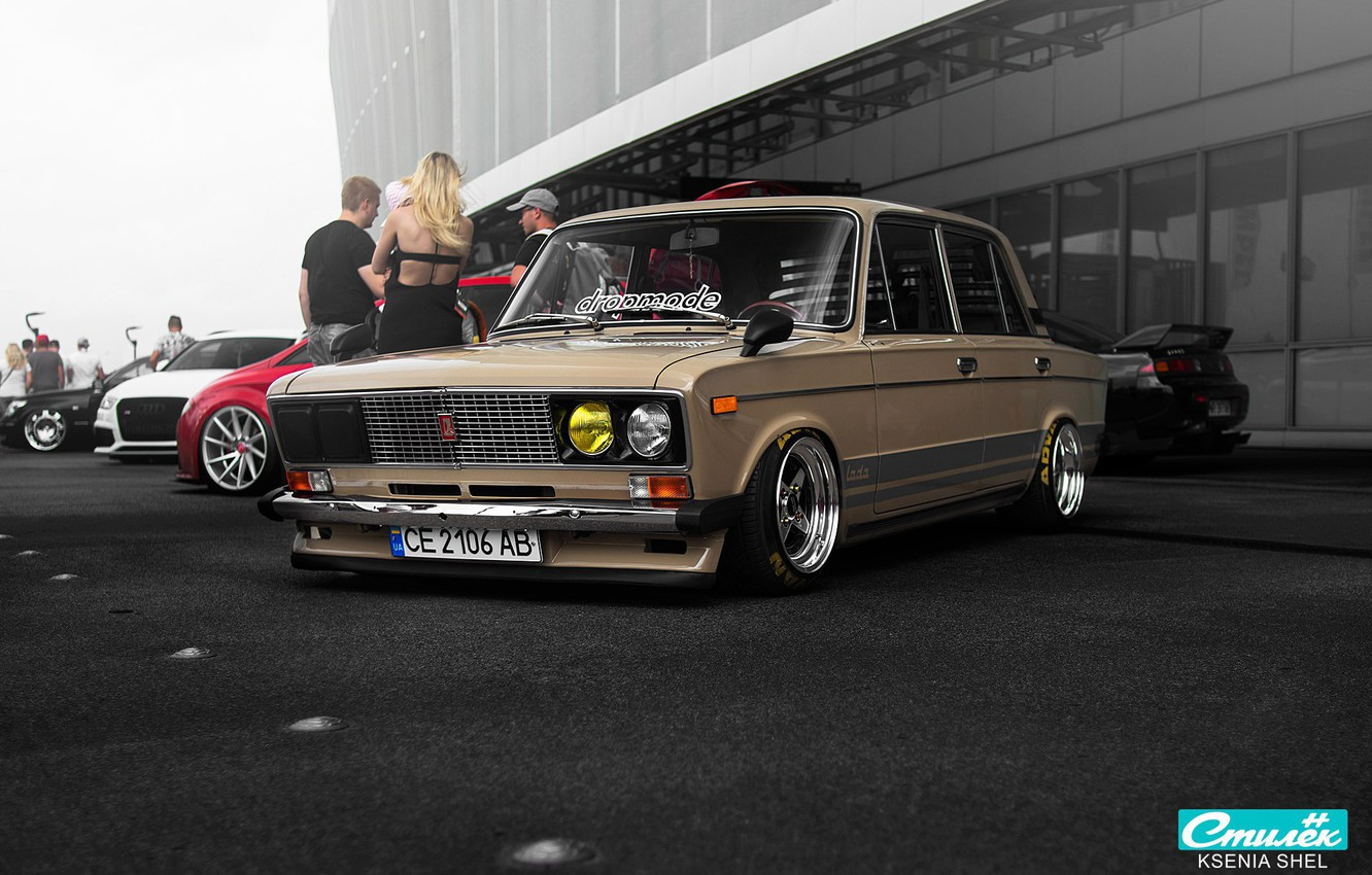 Photo wallpaper style, tuning, classic, Lada, vaz, VAZ, lada, Lada, 2106, six, stance, raceism 2017