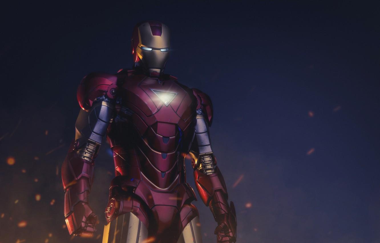 Photo wallpaper Iron Man, Rendering, Superhero