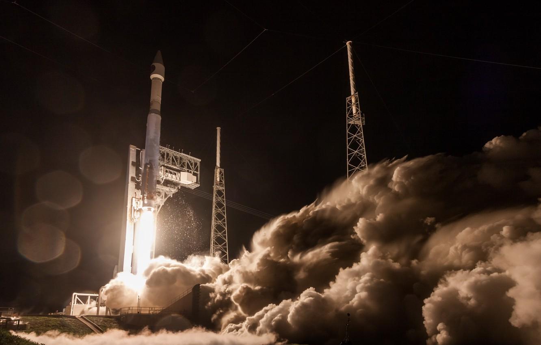 Photo wallpaper rocket, start, Atlas V