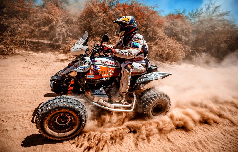 Photo wallpaper Speed, Race, ATV, Racer, Moto, Yamaha, Rally, Dakar, Dakar, Rally, 276