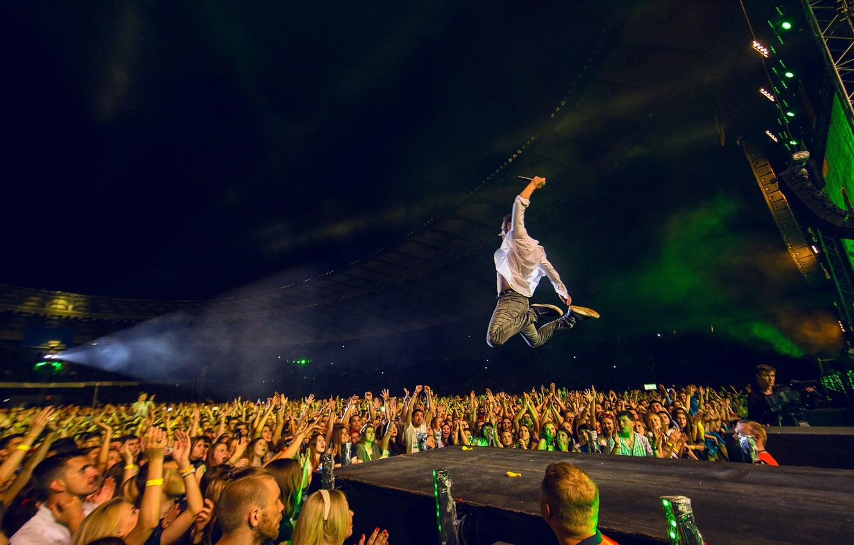 Photo wallpaper Concert, Rock, Rock, Scene, Okean Elzy, Svyatoslav Vakarchuk