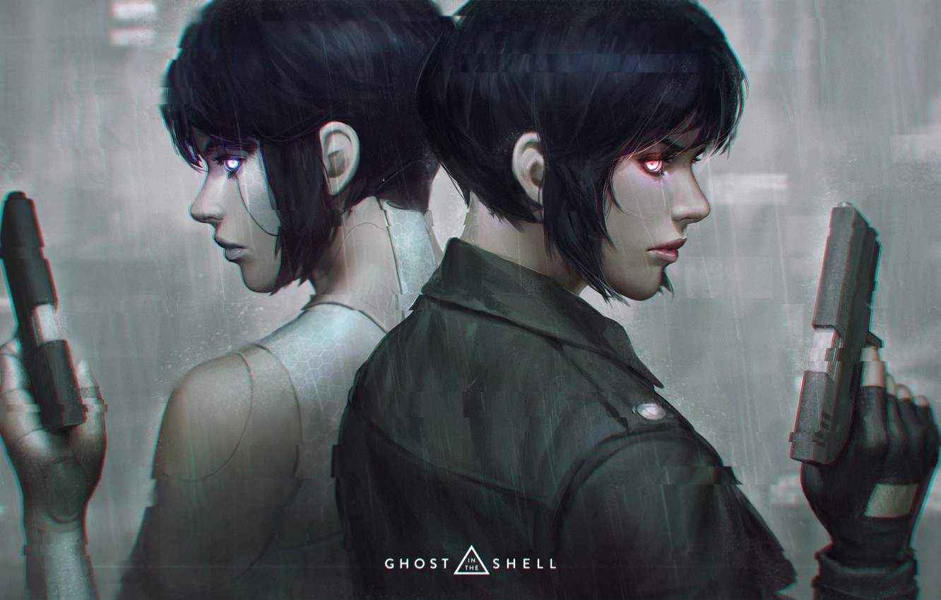 Wallpaper Weapons Guns Art Ghost In The Shell Ghost In The Shell The Major Images For Desktop Section Filmy Download