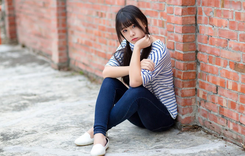 Photo wallpaper girl, Asian, cutie
