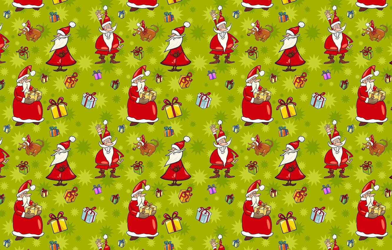 Photo wallpaper mood, holiday, kindness, humor, art, gifts, New year, Santa Claus, cartoon, fun.