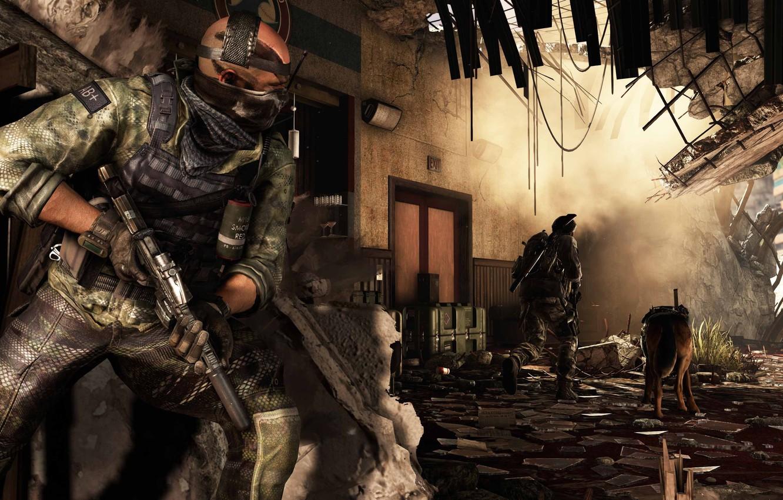 Wallpaper Gun Call Of Duty Weapon Dog Rifle Bald Call Of