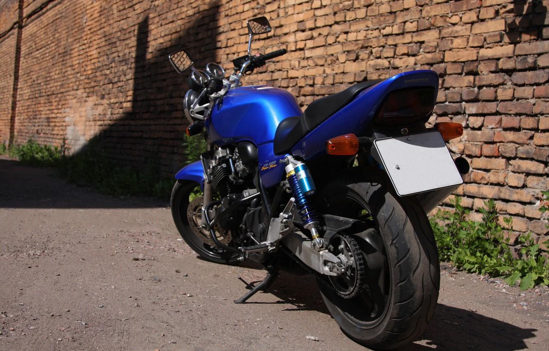 Photo wallpaper Honda, Blue, SuperFour, CB400