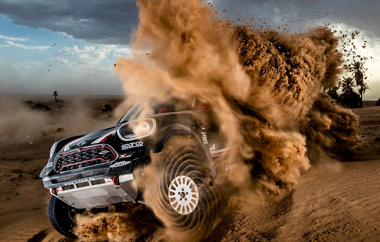 Photo wallpaper Sand, Mini, Sport, Desert, Race, Rally, Dakar, Dakar, SUV, Rally, Dune, X-Raid Team, MINI Cooper, …