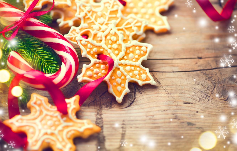 Christmas Cookies Wallpaper.Wallpaper New Year Cookies Christmas Wood Merry