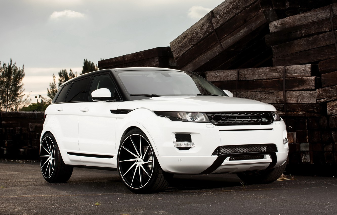 Photo wallpaper Land Rover, with, color, Evoque, exterior, painted, gloss, trim, matched