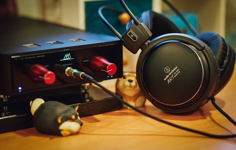 Photo wallpaper music, headphones, ATH-A900x