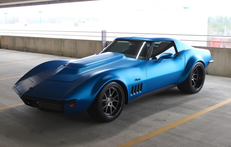 Photo wallpaper Corvette, Chevrolet, 1969, Stingray, Wheels, Concave, Forgeline, GA3C