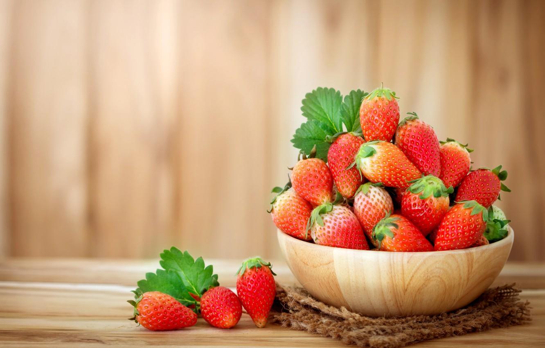 Photo wallpaper Strawberry, Berries, ripe, delicious, juicy
